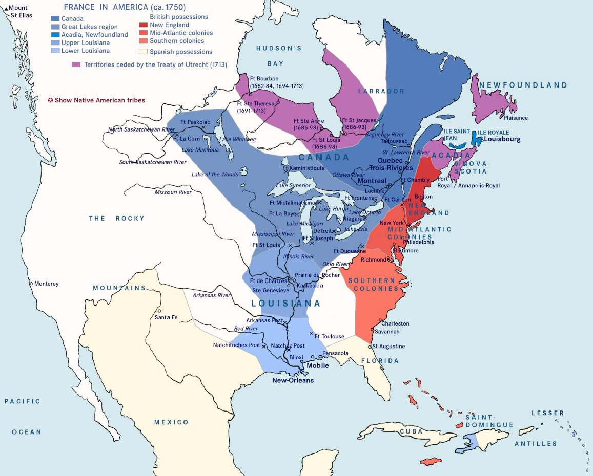 Land Divisions Of Ontario Canada - Map of north america 1700