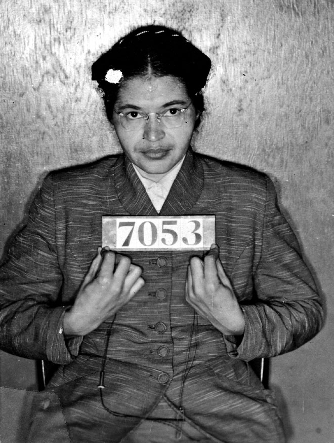 Sheriff's booking photo of Rosa Parks (Associated Press)
