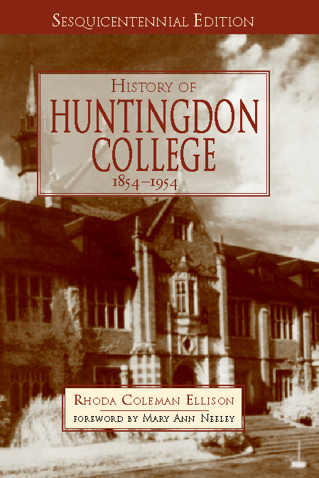 History of Huntingdon College, 1854-1954