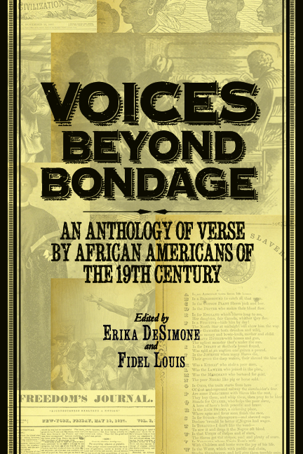 Voices Beyond Bondage: An Anthology of Verse by African Americans of the 19th Century