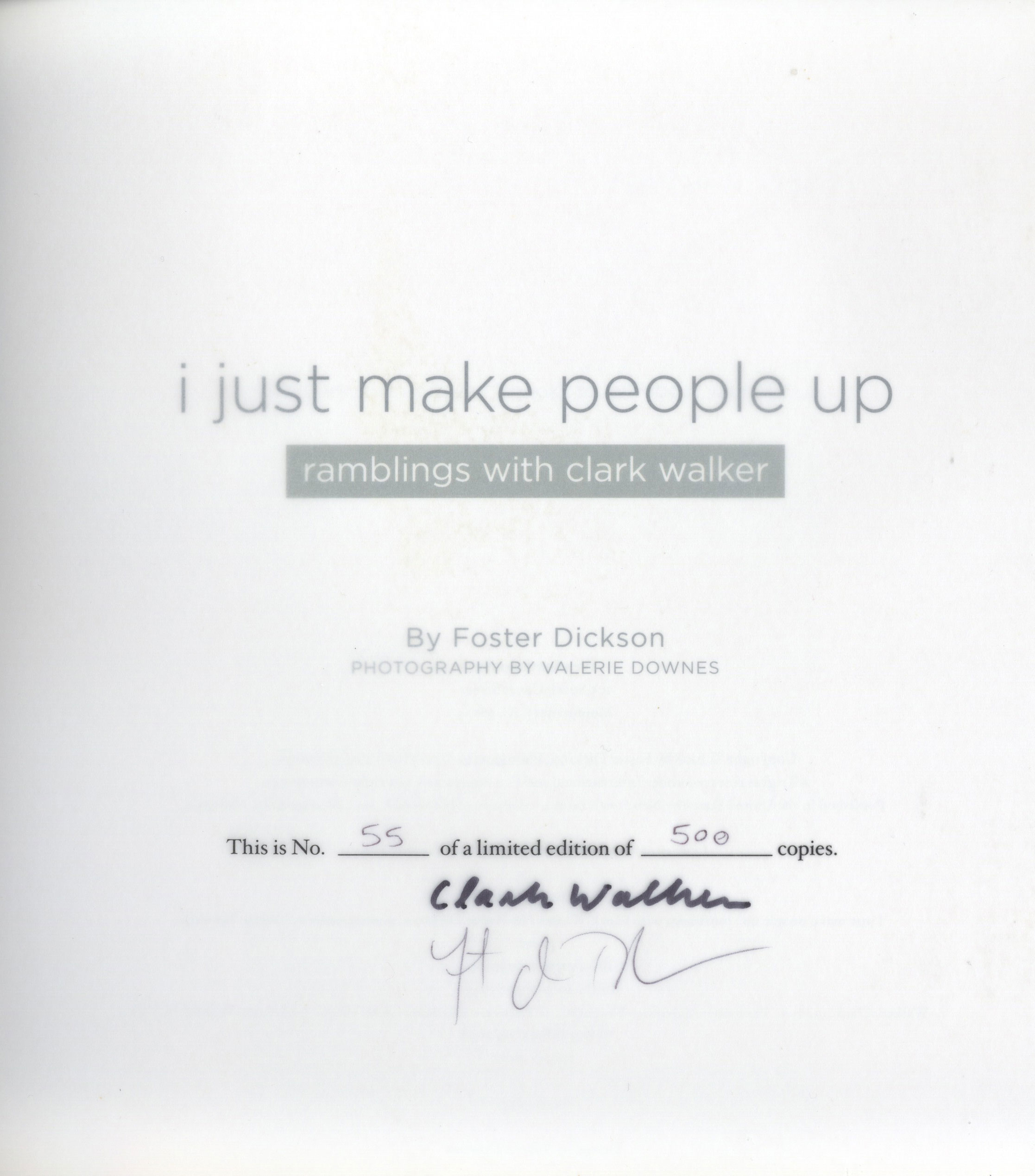 I Just Make People Up - limited edition
