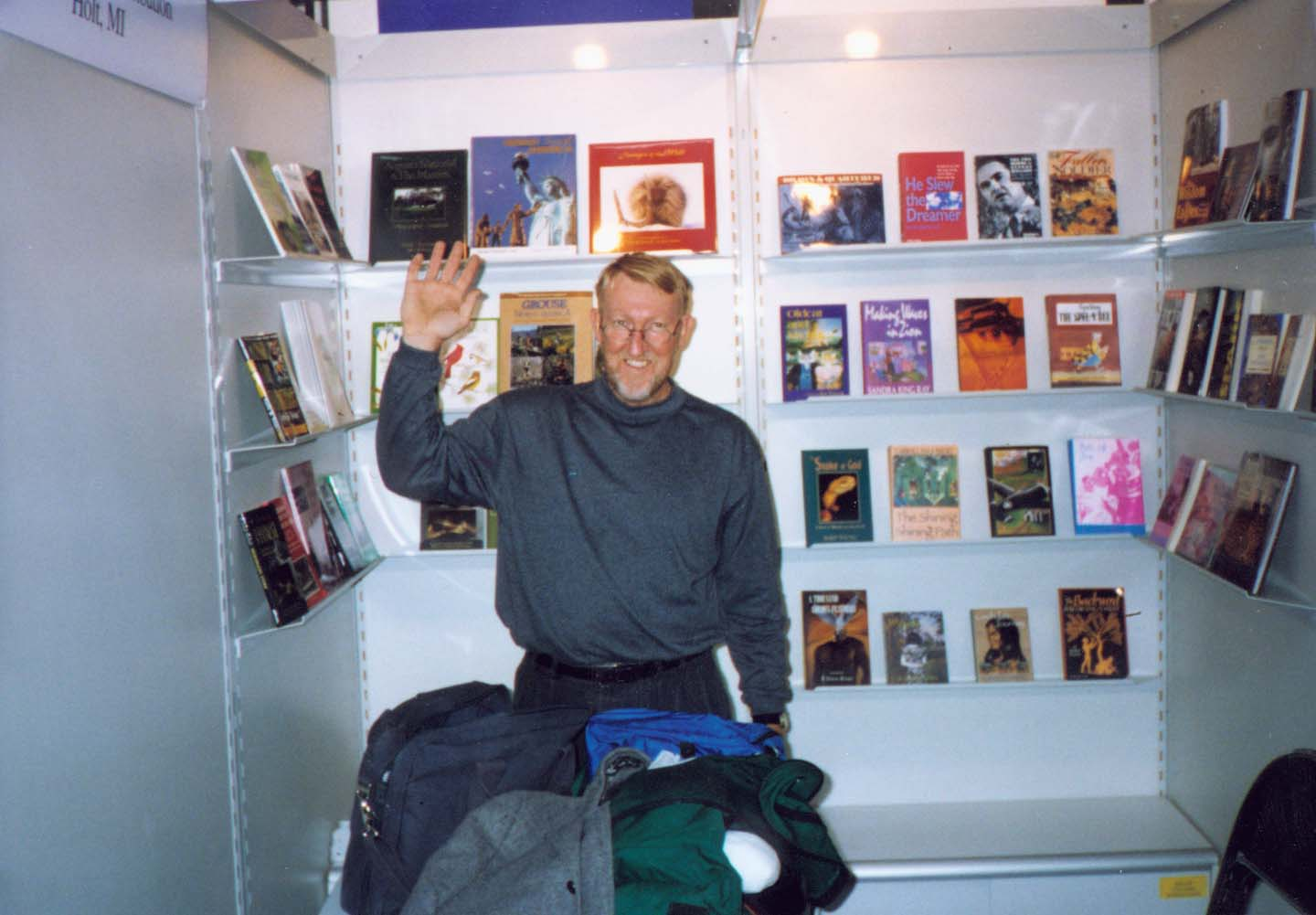 Randall at the Frankfurt Book Fair in 1998.